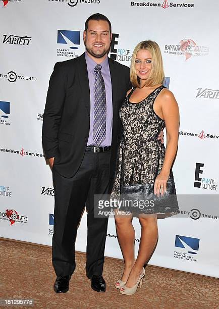 Actress Max Adler and Jennifer Bronstein attend the 12th Annual Heller Awards at The Beverly Hilton Hotel on September 19 2013 in Beverly Hills...