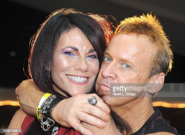 Actress Max Wasa and actor Marv Blauvelt attend the Scream QueenAthon Opening Night Party held at Mayflower Club Inc on October 5 2018 in North...