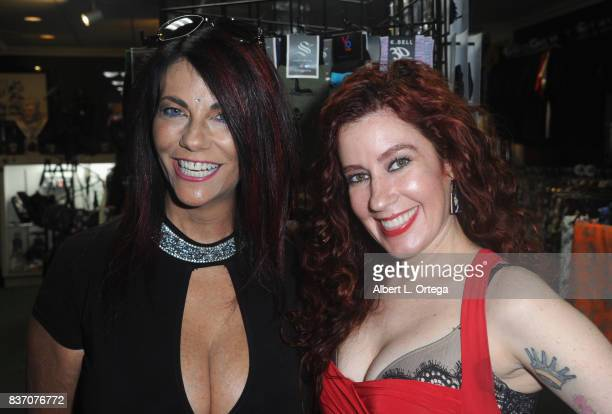 Actress Max Wasa and actress Victoria De Mare participate in the Hotness Of Horror A Special Scream Queen Signing Event held at Dark Delicacies...
