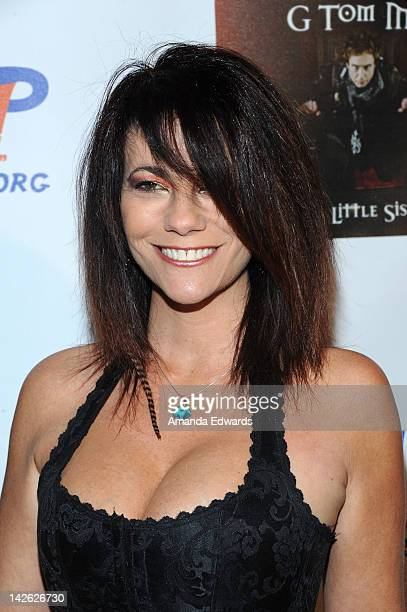 Actress Max Wasa arrives at G Tom Mac's CD release party for Untame The Songs at Rolling Stone Restaurant Lounge on April 9 2012 in Los Angeles...