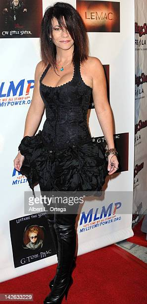 Actress Max Wasa arrives for the G Tom Mac CD Release Party For Untame The Songs held at Rolling Stone Restaurant Lounge on April 9 2012 in Los...