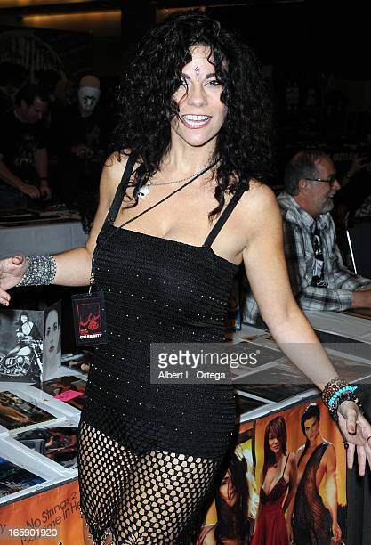 Actress Max Wasa attends Los Angeles' Days Of The Dead Convention Day Two held at Los Angeles Convention Center on April 6 2013 in Los Angeles...
