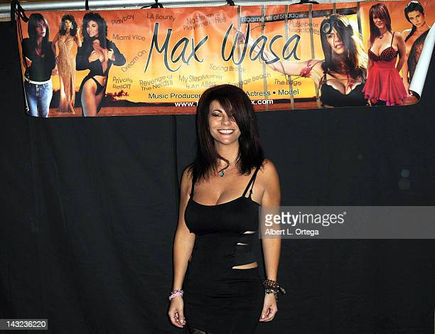 Actress Max Wasa participates in The Hollywood Show held at Burbank Airport Marriott on April 21 2012 in Burbank California