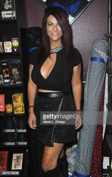 Actress Max Wasa participates in the Hotness Of Horror A Special Scream Queen Signing Event held at Dark Delicacies Bookstore on August 21 2017 in...
