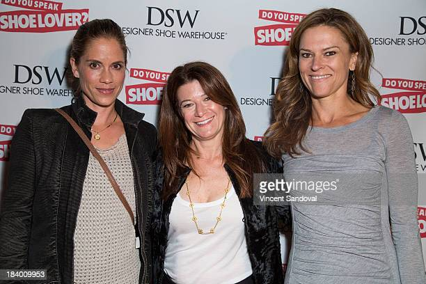 Actress Maxine Bahns author Linda Meadow and Michelle Lovitt attend the Do You Speak Shoe Lover Style And Stories From Inside DSW book launch party...