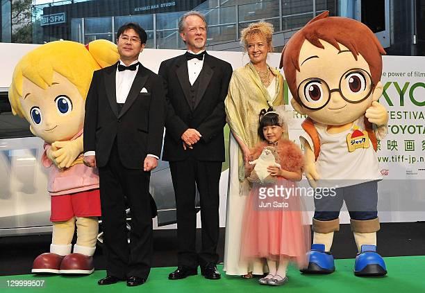 Actress Maya Ashida, Mary Pope Osborne and Will Osborne attend the 24th Tokyo International Film Festival Opening Ceremony at Roppongi Hills on...