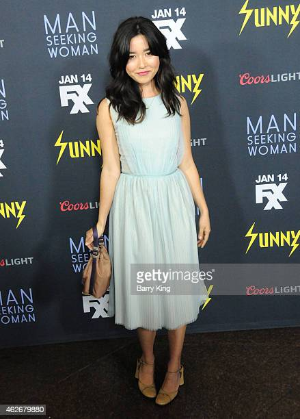 Actress Maya Erskine attends the premiere of FXX's 'It's Always Sunny In Philadelphia' and 'Man Seeking Woman' at The DGA Theater on January 13 2015...