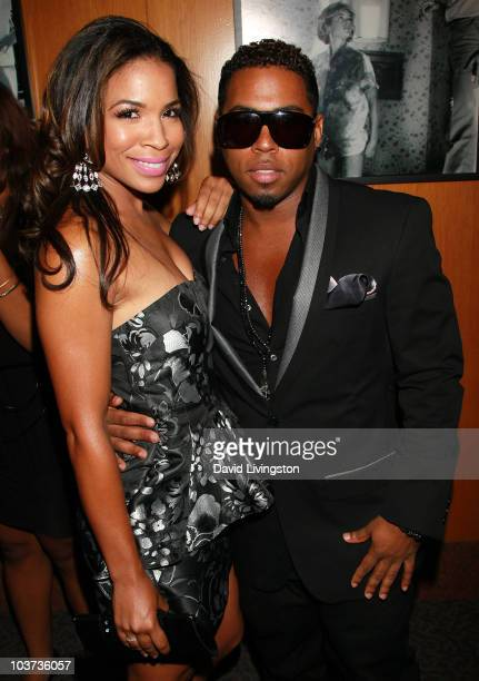 Actress Maya Gilbert and TV personality Bobby V attends the 20th Annual NAACP Theatre Awards at the Directors Guild of America on August 30 2010 in...