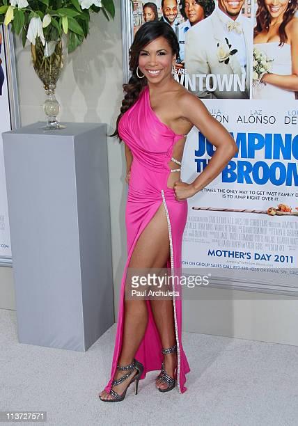 Actress Maya Gilbert arrives at the 'Jumping The Broom' Los Angeles premiere at ArcLight Cinemas Cinerama Dome on May 4 2011 in Hollywood California