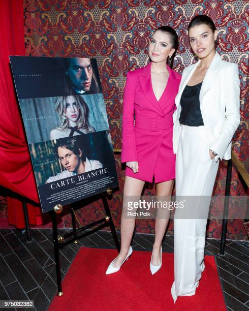 Actress Maya Henry and director Eva Doležalová arrive at an event where Flaunt Presents a private screening of Eva Dolezalova's 'Carte Blanche' at...