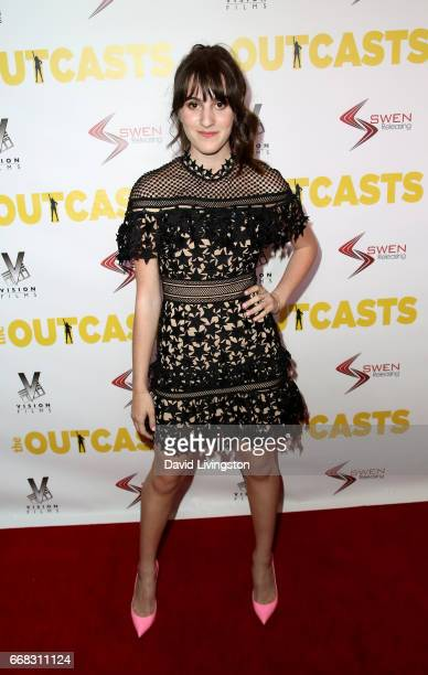 Actress Maya Jade Frank attends the premiere of Swen Group's 'The Outcasts' at Landmark Regent on April 13 2017 in Los Angeles California