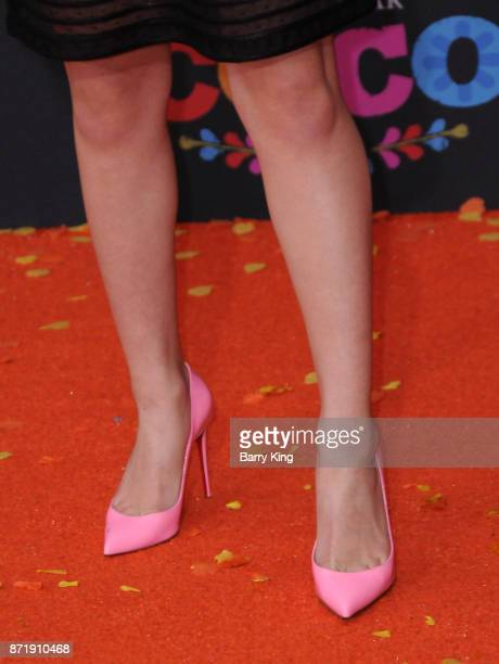 Actress Maya Jade Frank shoe detail attends the US Premiere of Disney Pixar's 'Coco' at El Capitan Theatre on November 8 2017 in Los Angeles...