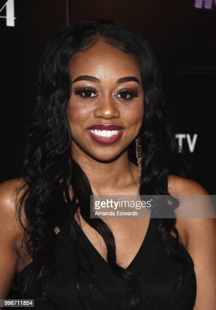 Actress Maya Jenkins arrives at the Los Angeles special screening of 'Hot Summer Nights' at the Pacific Theatres at The Grove on July 11 2018 in Los...
