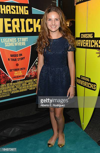 Actress Maya Raines arrives to the premiere of 20th Century Fox's 'Chasing Mavericks' on October 18 2012 in Los Angeles California