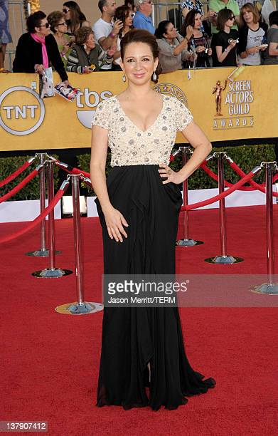 Actress Maya Rudolph arrives at the 18th Annual Screen Actors Guild Awards at The Shrine Auditorium on January 29 2012 in Los Angeles California