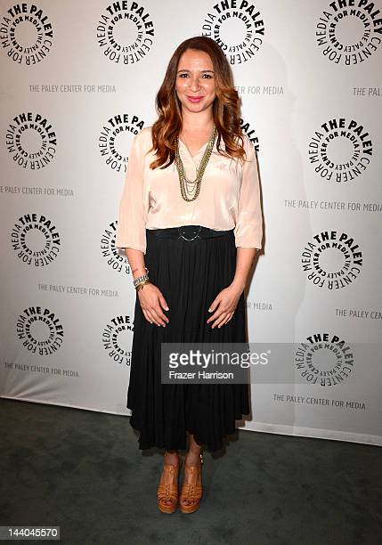 Actress Maya Rudolph arrives at The Paley Center For Media presents an evening with Up All Night at The Paley Center for Media on May 8 2012 in...