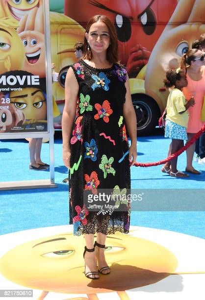 Actress Maya Rudolph arrives at the Premiere Of Columbia Pictures And Sony Pictures Animation's 'The Emoji Movie' at Regency Village Theatre on July...