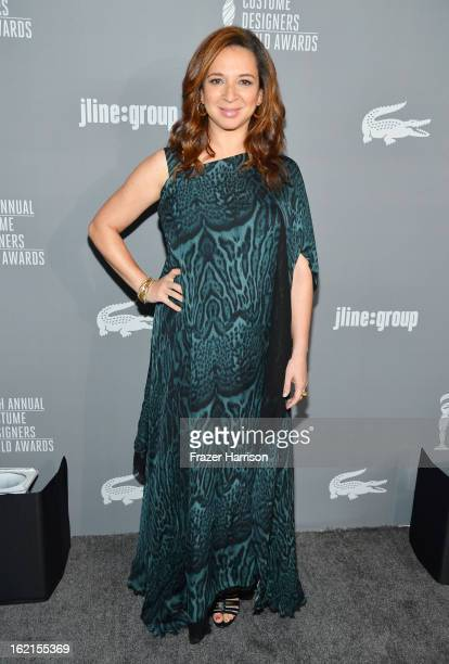 Actress Maya Rudolph attends the 15th Annual Costume Designers Guild Awards with presenting sponsor Lacoste at The Beverly Hilton Hotel on February...