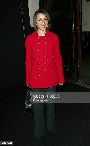 Actress Maya Rudolph attends the Marc Jacobs Fall/Winter 2003 Collection fashion show at the 26th Street Armory during MercedesBenz Fashion Week...