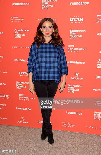 Actress Maya Rudolph attends the 'Mr Pig' premiere during the 2016 Sundance Film Festival at Eccles Center Theatre on January 26 2016 in Park City...