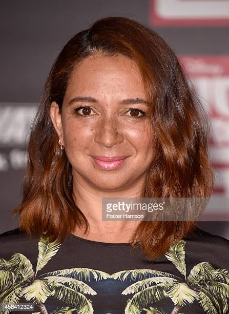Actress Maya Rudolph attends the premiere of Disney's Big Hero 6 at the El Capitan Theatre on November 4 2014 in Hollywood California