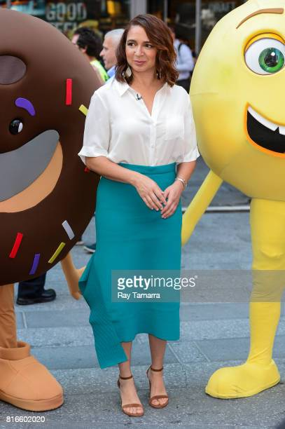 Actress Maya Rudolph leaves the 'Good Morning America' taping at the ABC Times Square Studios on July 17 2017 in New York City