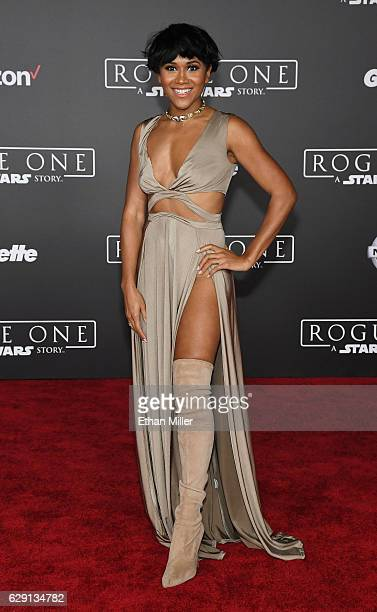 Actress Maya Washington attends the premiere of Walt Disney Pictures and Lucasfilm's 'Rogue One A Star Wars Story' at the Pantages Theatre on...