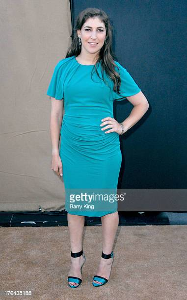 Actress Mayim Bialik arrives at the 2013 Television Critic Association's Summer Press Tour CBS The CW Showtime Party on July 29 2013 at The Beverly...
