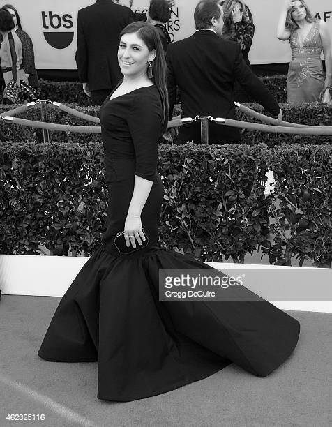 Actress Mayim Bialik arrives at the 21st Annual Screen Actors Guild Awards at The Shrine Auditorium on January 25 2015 in Los Angeles California