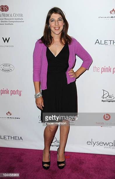 Actress Mayim Bialik arrives at the 6th Annual Pink Party at Drai's at the W Hollywood on September 25 2010 in Hollywood California