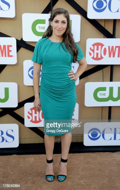 Actress Mayim Bialik arrives at the CBS/CW/Showtime Television Critic Association's summer press tour party at 9900 Wilshire Blvd on July 29 2013 in...