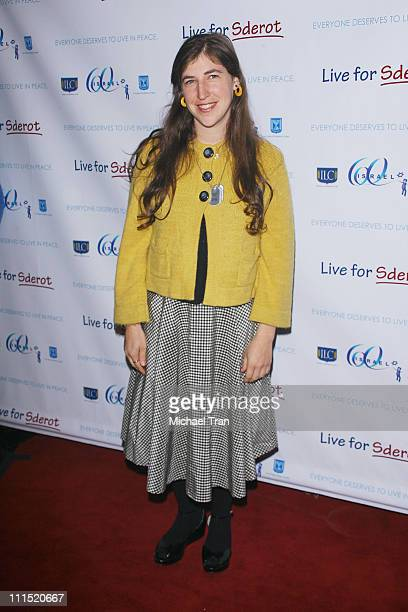 Actress Mayim Bialik arrives at the 'Live For Sderot' a benefit concert for Israel's 60th Anniversary of Independence celebration in the United...