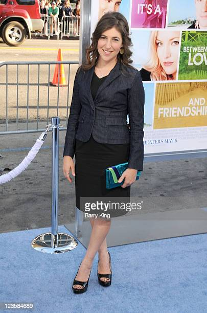 Actress Mayim Bialik arrives at the Los Angeles Premiere Something Borrowed at Grauman's Chinese Theatre on May 3 2011 in Hollywood California