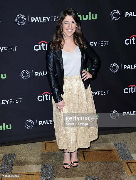 Actress Mayim Bialik arrives for the The Paley Center For Media's 33rd Annual PaleyFest Los Angeles 'The Big Bang Theory' held at Dolby Theatre on...