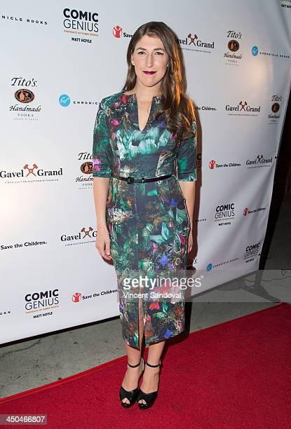 Actress Mayim Bialik attends Matt Hoyle Photography's Comic Genius book launch event at Bergamot Station on November 18, 2013 in Santa Monica,...