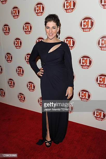 Actress Mayim Bialik attends the 15th annual Entertainment Tonight Emmy party presented by Visit California at Vibiana on September 18 2011 in Los...