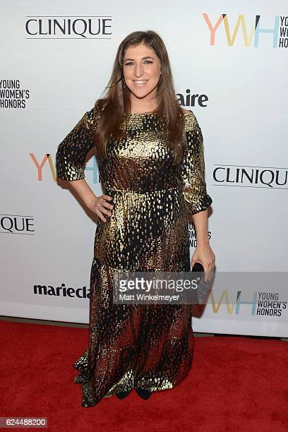 Actress Mayim Bialik attends the 1st annual Marie Claire Young Women's Honors at Marina del Rey Marriott on November 19 2016 in Marina del Rey...