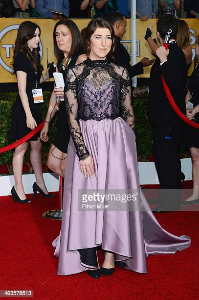 Actress Mayim Bialik attends the 20th Annual Screen Actors Guild Awards at The Shrine Auditorium on January 18 2014 in Los Angeles California