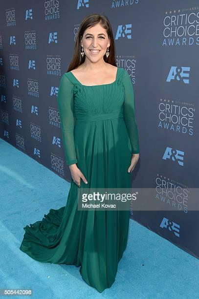 Actress Mayim Bialik attends the 21st Annual Critics' Choice Awards at Barker Hangar on January 17 2016 in Santa Monica California