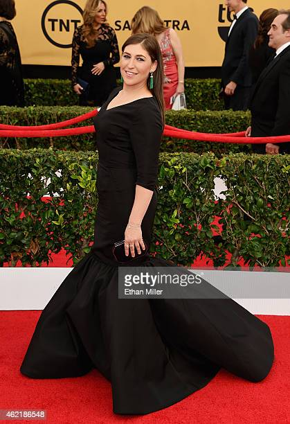 Actress Mayim Bialik attends the 21st Annual Screen Actors Guild Awards at The Shrine Auditorium on January 25 2015 in Los Angeles California