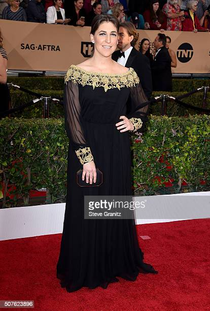 Actress Mayim Bialik attends the 22nd Annual Screen Actors Guild Awards at The Shrine Auditorium on January 30 2016 in Los Angeles California