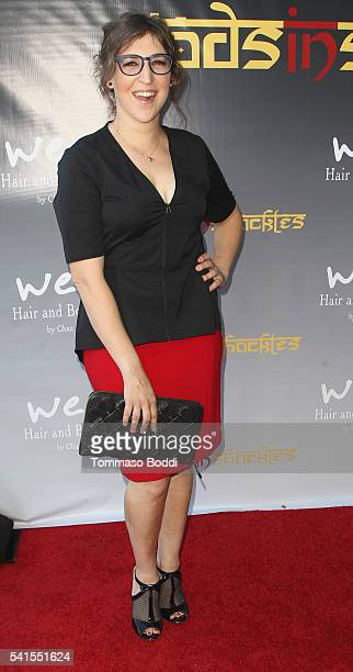 Actress Mayim Bialik attends the benefit screening and party for Gods In Shackles at Harmony Gold Theater on June 19 2016 in Los Angeles California