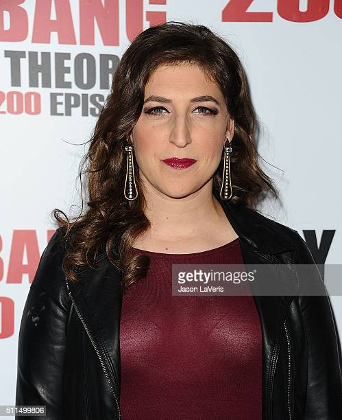 """Actress Mayim Bialik attends """"The Big Bang Theory"""" 200th episode celebration at Vibiana on February 20, 2016 in Los Angeles, California."""