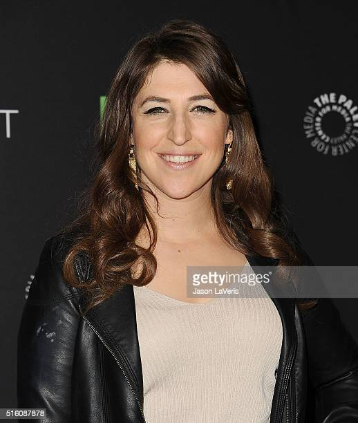 "Actress Mayim Bialik attends ""The Big Bang Theory"" event at the 33rd annual PaleyFest at Dolby Theatre on March 16, 2016 in Hollywood, California."