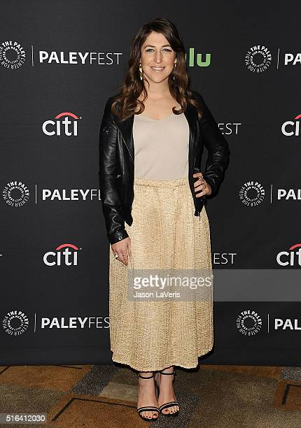 Actress Mayim Bialik attends 'The Big Bang Theory' event at the 33rd annual PaleyFest at Dolby Theatre on March 16 2016 in Hollywood California