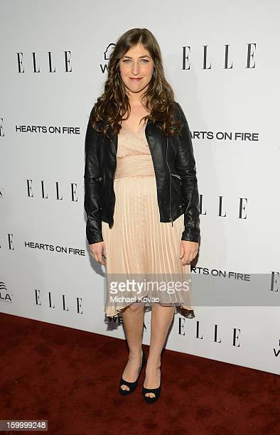 Actress Mayim Bialik attends the ELLE's Women in Television Celebration at Soho House on January 24 2013 in West Hollywood California