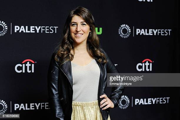 Actress Mayim Bialik attends The Paley Center For Media's 33rd Annual PaleyFest Los Angeles 'The Big Bang Theory' at Dolby Theatre on March 16 2016...