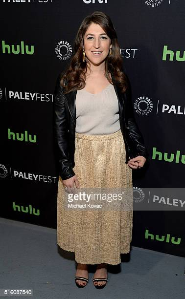 Actress Mayim Bialik attends The Paley Center For Media's PaleyFest 2016 Honoring The Big Bang Theory at The Dolby Theatre on March 16 2016 in Los...