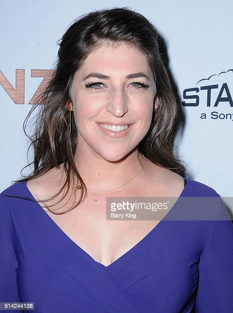 Actress Mayim Bialik attends the Premiere of Sony Pictures Classics' 'The Bronze' at SilverScreen Theater at the Pacific Design Center on March 7...
