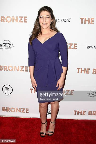 Actress Mayim Bialik attends the premiere of Sony Pictures Classics' 'The Bronze' held at SilverScreen Theater at the Pacific Design Center on March...